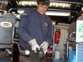 Torsten Becker in seinem mobilen Schmiedewagen
